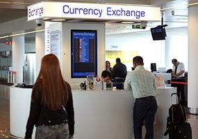 1% korting <p>Op het standaardtarief en commissie vreemde valuta wisselen bij Travelex</p>